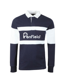 Penfield Mens Blue Cass Rugby Shirt