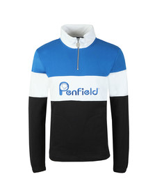 Penfield Mens Black Gravas Half Zip Sweat