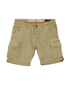 Alpha Industries Mens Beige Crew Cargo Short