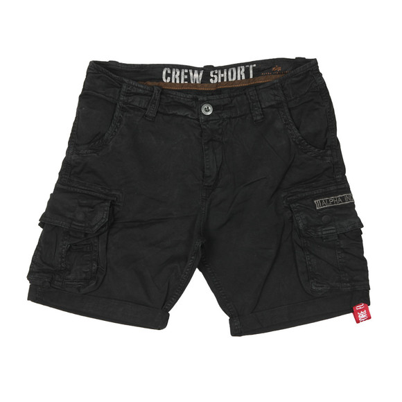 Alpha Industries Mens Black Crew Cargo Short main image
