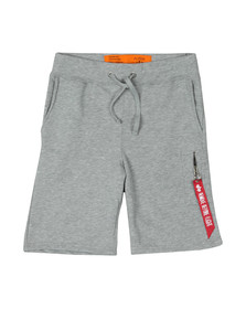 Alpha Industries Mens Grey X Fit Sweat Short