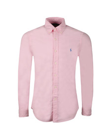 Polo Ralph Lauren Mens Pink Slim Fit Button Down Oxford Shirt