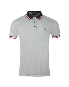 Polo Ralph Lauren Mens Grey Contrast Collar Polo Shirt