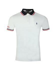 Polo Ralph Lauren Mens White Contrast Collar Polo Shirt