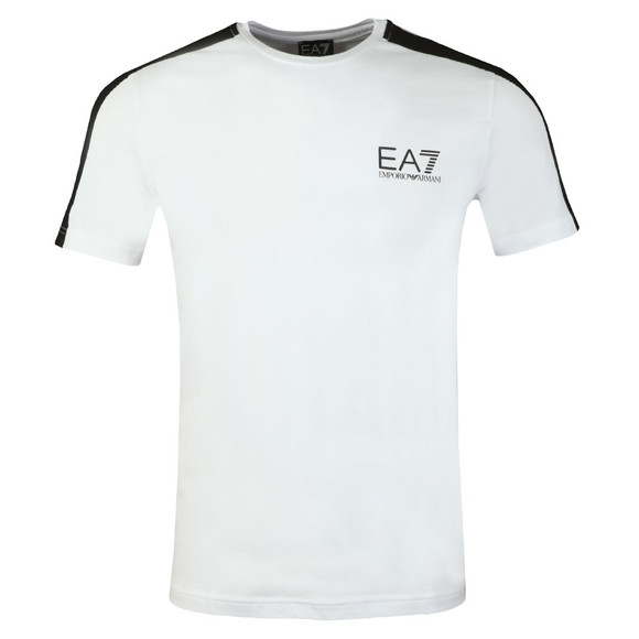 EA7 Emporio Armani Mens White Shoulder Detail T Shirt main image