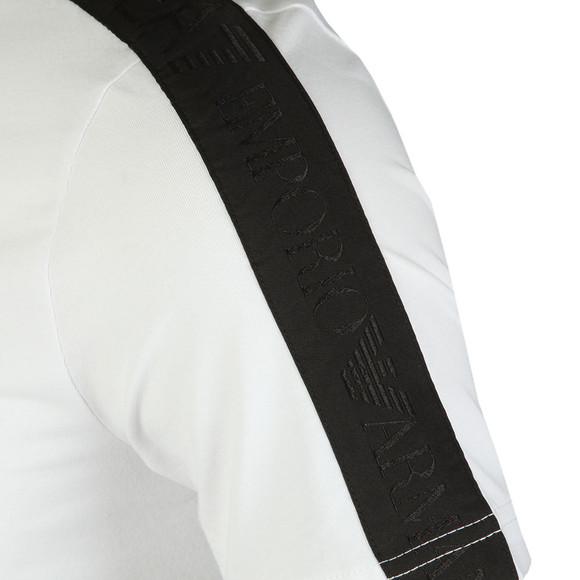 EA7 Emporio Armani Mens White Shoulder Detail T Shirt main image