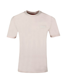 HUGO Mens Pink Durned T Shirt