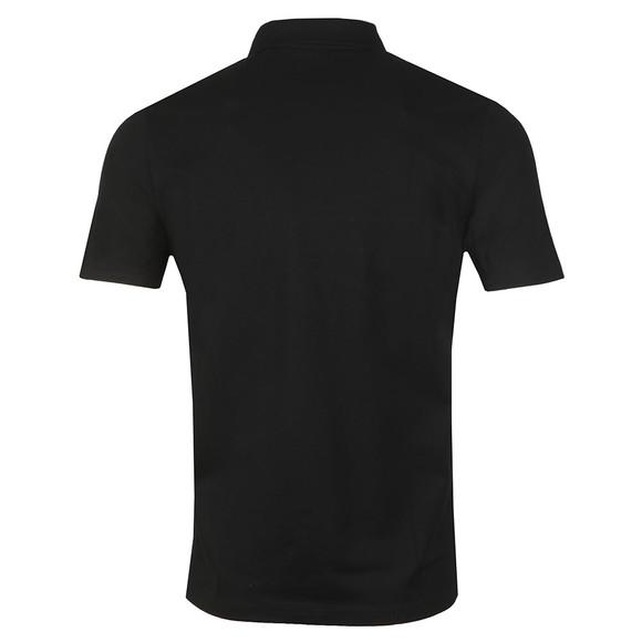 HUGO Mens Black Dantes Logo Artwork Polo Shirt main image