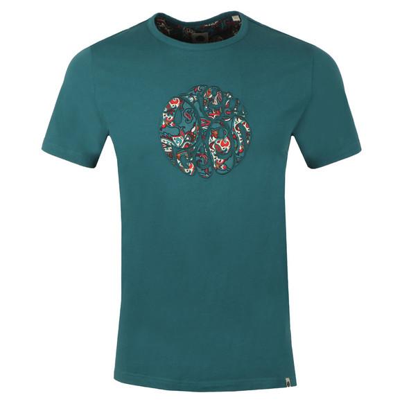 Pretty Green Mens Green Paisley Applique T Shirt main image