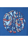 Pretty Green Mens Blue Paisley Applique T Shirt