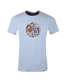Pretty Green Mens Purple Floral Paisley Applique Tee