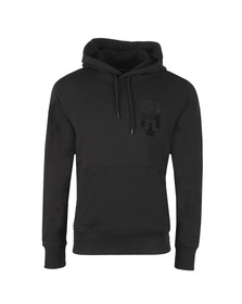 J.Lindeberg Mens Black Hurl Hood Ring Loop Hoody