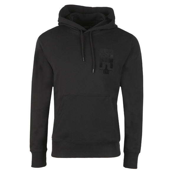 J.Lindeberg Mens Black Hurl Hood Ring Loop Hoody main image