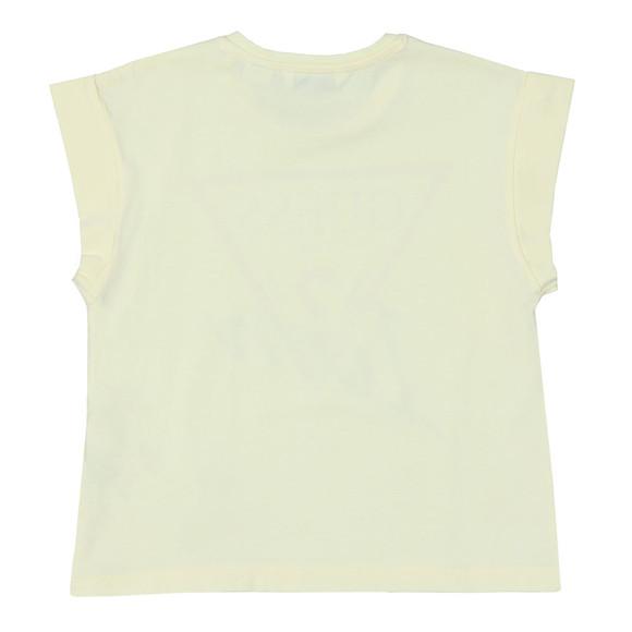 Guess Girls Yellow Icon Logo T-shirt