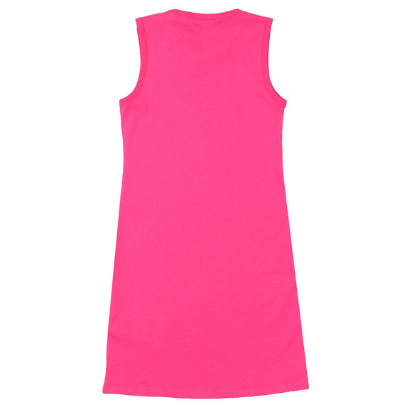 Guess Girls Pink Double Triangle Logo Dress