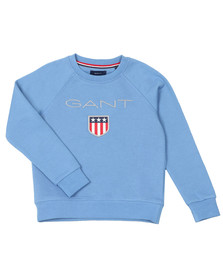Gant Boys Blue Shield Logo Crew Neck Sweat