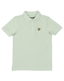 Lyle And Scott Junior Boys Green Classic Marl Polo Shirt
