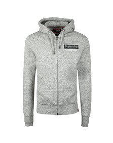 Superdry Mens Grey International Monochrome Hoody
