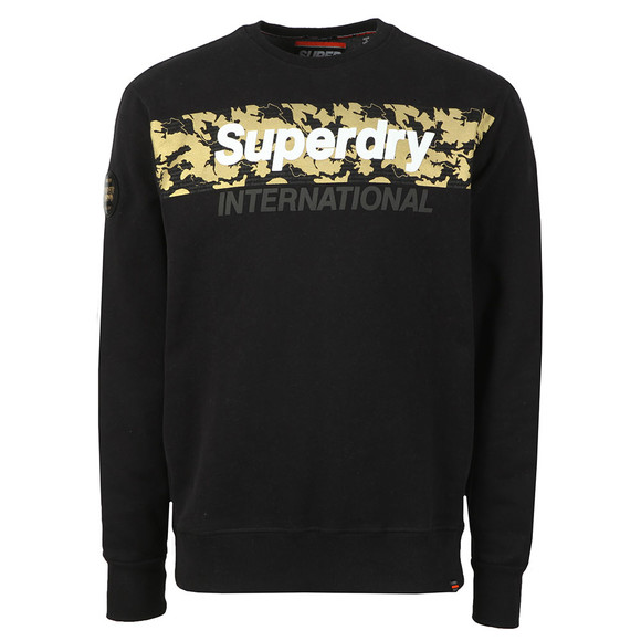 Superdry Mens Black Monochrome Overs Sweat main image