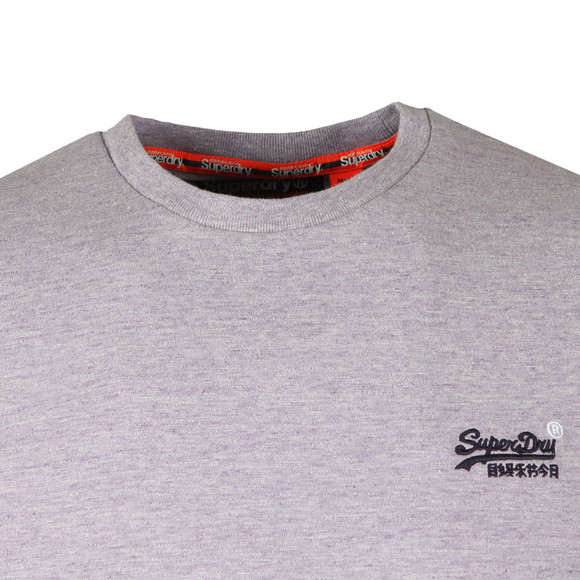 Superdry Mens Purple Vintage Embroider Tee main image
