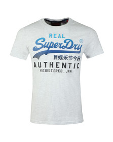Superdry Mens Grey Logo Authentic Tee