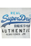 Superdry Mens White Logo Authentic Tee