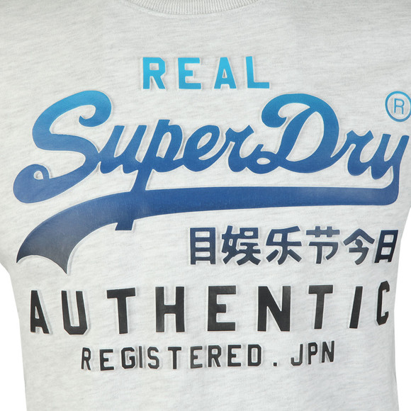 Superdry Mens White Logo Authentic Tee main image