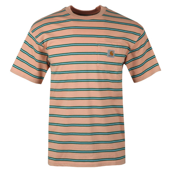 Carhartt Mens Pink Houston Pocket Tee main image