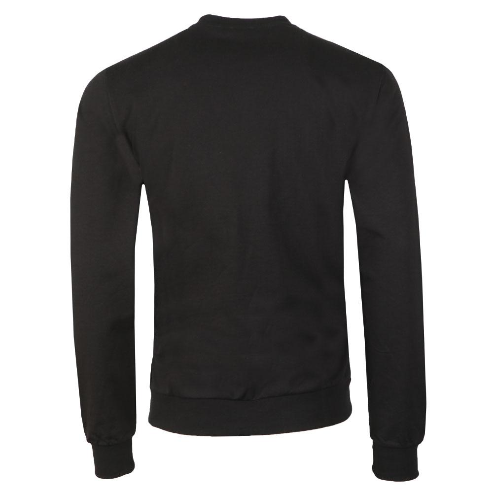 7e59d815ecd EA7 Emporio Armani Mens Black Large Metallic Logo Sweatshirt