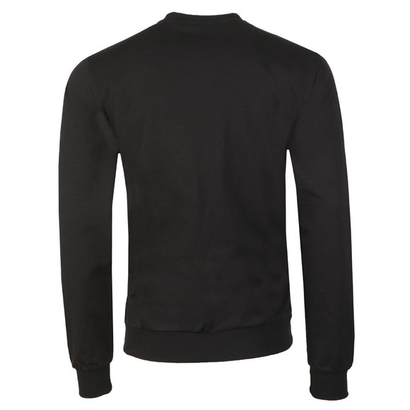 EA7 Emporio Armani Mens Black Large Metallic Logo Sweatshirt main image