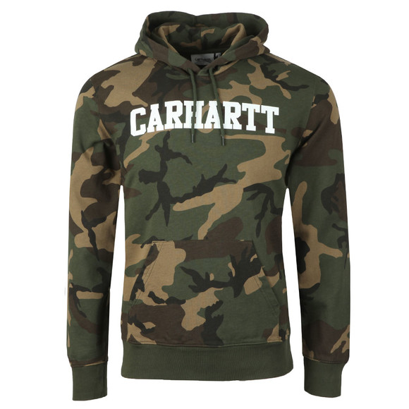 Carhartt WIP Mens Green College Hooded Sweat main image