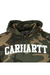 Carhartt WIP Mens Grey College Hooded Sweat