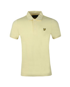 Lyle and Scott Mens Yellow S/S Plain Polo