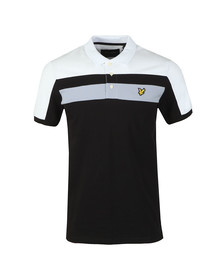 Lyle and Scott Mens Black Colour Block Polo