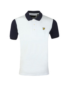 Lyle and Scott Mens White Ringer Polo Shirt