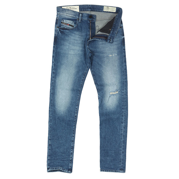 Diesel Mens Blue D-Strukt Tapered Jean