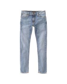 Nudie Jeans Mens Light Blue Power Skinny Lin Jean