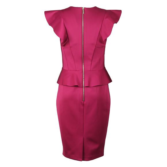 Ted Baker Womens Pink Alair Ruffle Peplum Bodycon Dress main image