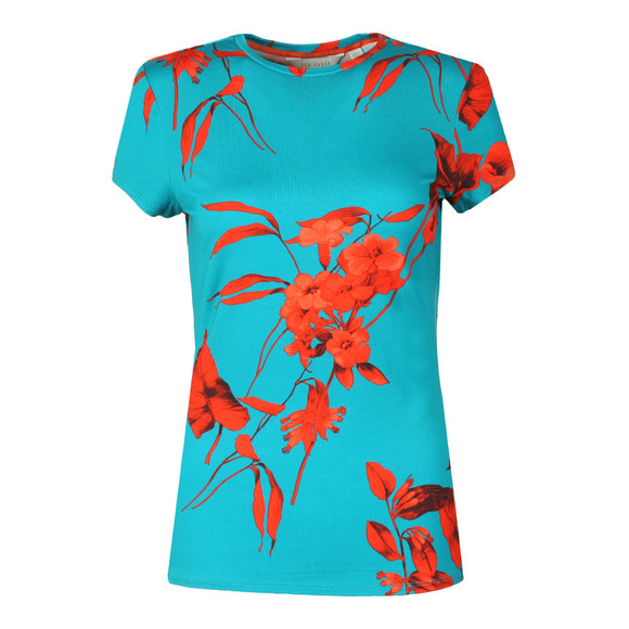 Ted Baker Womens Blue Dillia Fantasia Fitted Tee main image