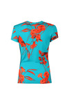 Ted Baker Womens Blue Dillia Fantasia Fitted Tee