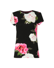 Ted Baker Womens Black Alanyo Magnificent Fitted Tee
