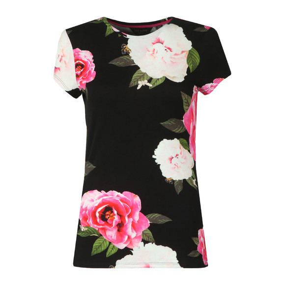 Ted Baker Womens Black Alanyo Magnificent Fitted Tee main image