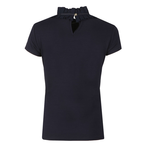 Ted Baker Womens Blue Nicohla Ruffle Neck Fitted Tee main image