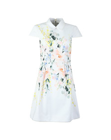 Ted Baker Womens White Charsy Elegance Scallop Ponte Dress