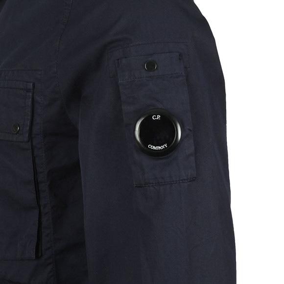 C.P. Company Mens Blue Chest Pocket Cotton Overshirt main image