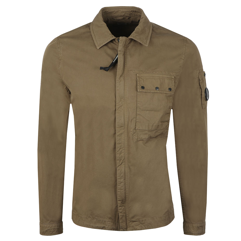 Chest Pocket Cotton Overshirt main image