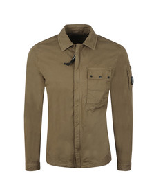 C.P. Company Mens Green Chest Pocket Cotton Overshirt