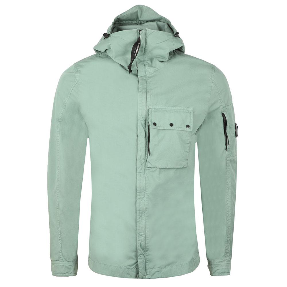Chest Pocket Cotton Hooded Overshirt main image
