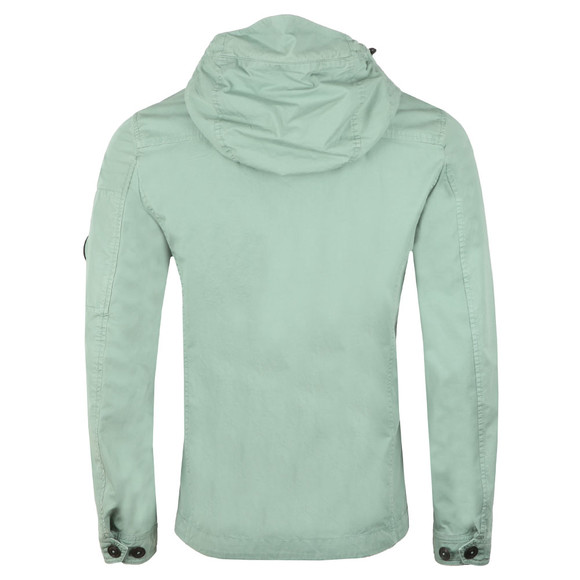 C.P. Company Mens Green Chest Pocket Cotton Hooded Overshirt main image