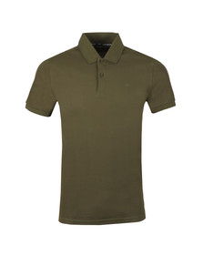 J.Lindeberg Mens Green Troy Clean Pique Polo Shirt